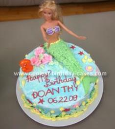Homemade Little Mermaid Birthday Cake