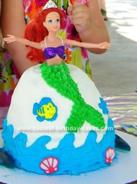 Terrific Coolest Little Mermaid Birthday Cake Birthday Cards Printable Giouspongecafe Filternl
