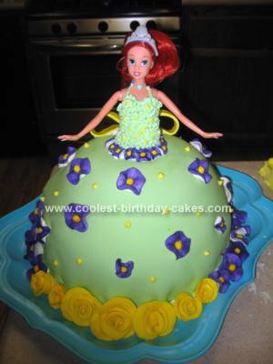 Homemade Little Mermaid Princess Cake