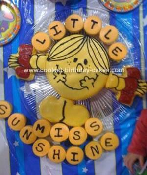 Homemade Little Miss Sunshine Birthday Cake