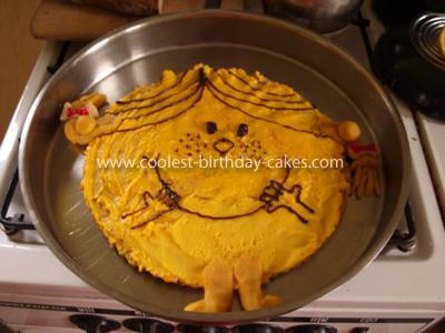 Homemade Little Miss Sunshine Cake
