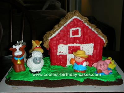 Fine Coolest Homemade Fisher Price Little People Cakes Personalised Birthday Cards Beptaeletsinfo