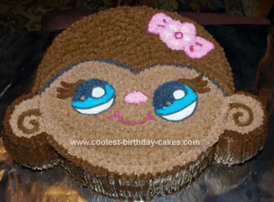 Homemade Little Pet Shop Monkey Birthday Cake