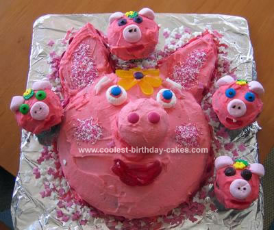 Homemade Little Piggy Cake