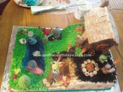 Homemade  Littlest Pet Shop Birthday Cake