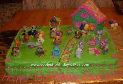 Homemade Littlest Pet Shop Birthday Cake