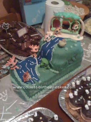 Homemade Littlest Pet Shop Birthday Cake Idea