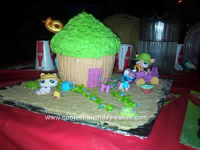 Homemade Littlest Pet Shop Birthday Cake Idea