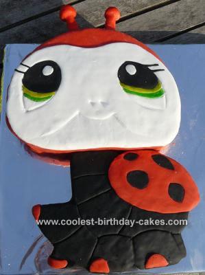 Littlest Pet Shop Ladybug Cake