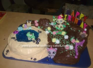 Homemade Littlest Pet Shop Toys Birthday Cake