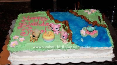 Homemade Littlest Petshop Cake
