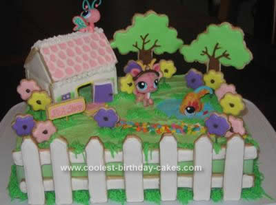 Strange Coolest Littlest Petshop Cottage Birthday Cake Funny Birthday Cards Online Elaedamsfinfo