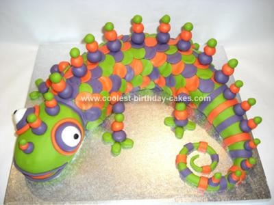 Homemade Lizard Birthday Cake