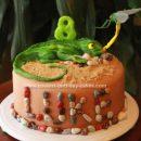 Homemade Lizard Birthday Cake Design