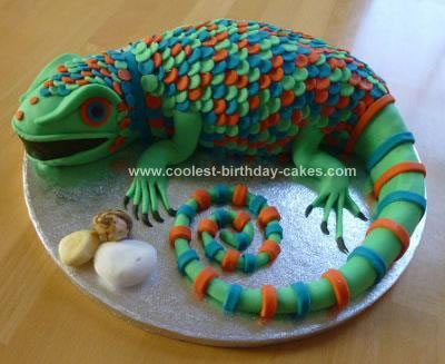 Homemade Lizard Cake