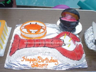 Homemade Lobster Boil and Clam Bake Cake