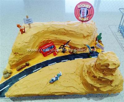 Homemade Looney Tunes Birthday Cake