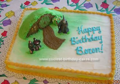 Homemade Lord of the Rings Birthday Cake