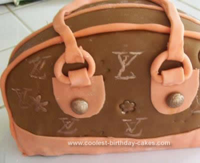 Homemade Louis Vuitton Purse Cake I Can Afford