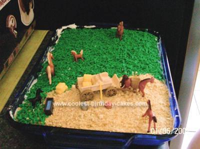 Homemade Love of Horses Cake