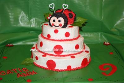 Homemade Lovely Ladybug Cake
