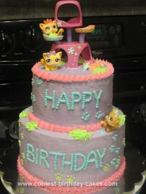 Homemade LPS Theme Birthday Cake