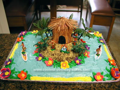 Coolest Luau Birthday Cake