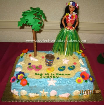 Outstanding Coolest Luau Birthday Cake Design Funny Birthday Cards Online Elaedamsfinfo