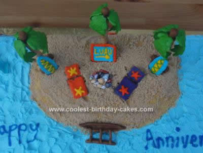 Homemade Luau Cake