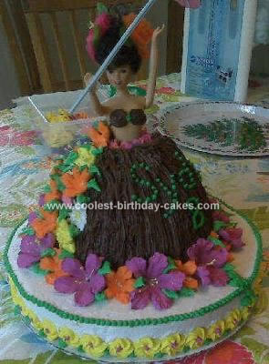 Peachy Coolest Luau Girl Birthday Cake Personalised Birthday Cards Epsylily Jamesorg