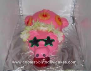 Homemade Luau Pig Cake