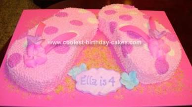 Homemade Luau Theme Cake