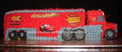 Homemade Mack the Truck from Cars Cake