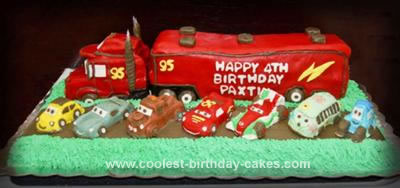 Homemade Mack Truck Cake