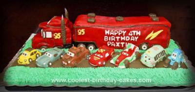 Homemade Mack Truck Cake