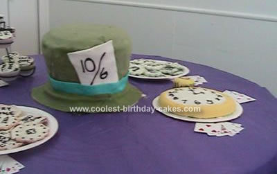 Homemade Mad Hatter Birthday Cake