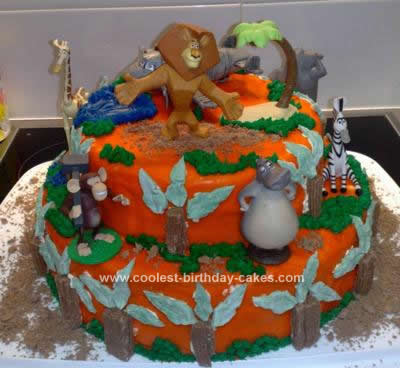 Homemade Madagascar Birthday Cake Design