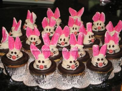 Homemade Magic Show Bunny Cupcakes