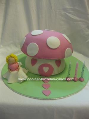 Homemade  Magic Toadstool Cake