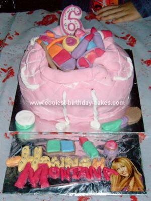 Homemade Hannah Montana Make Up Bag Cake