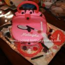 Homemade Make Up Kit Purse Cake