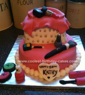 Stupendous Coolest Make Up Birthday Cake Personalised Birthday Cards Paralily Jamesorg