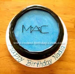 Homemade Makeup Birthday Cake Idea
