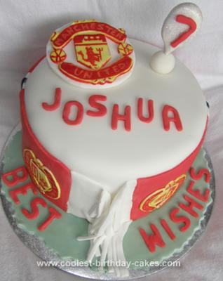 Homemade  Manchester United Cake