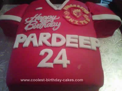 Homemade Manchester United Jersey Cake