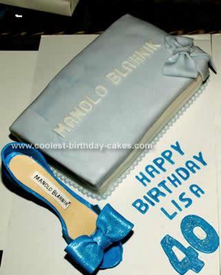Homemade Manolo Blahnik Shoe Cake