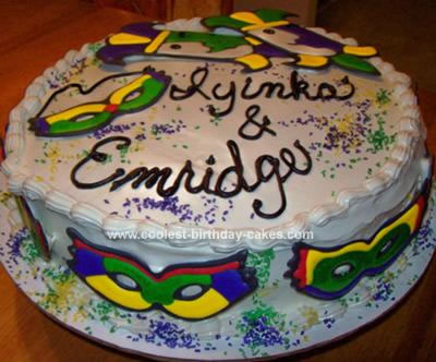 Homemade Mardi Gras Cake