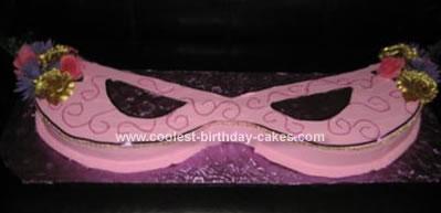Homemade Mardi Gras Masquerade Cake