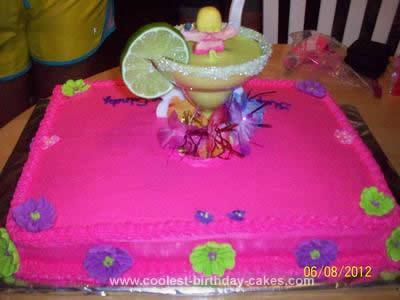 Homemade Margarita Birthday Cake