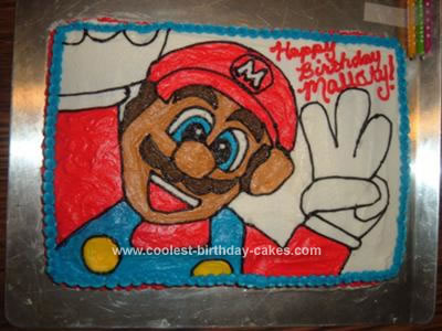 Homemade Mario Bros. Birthday Cake